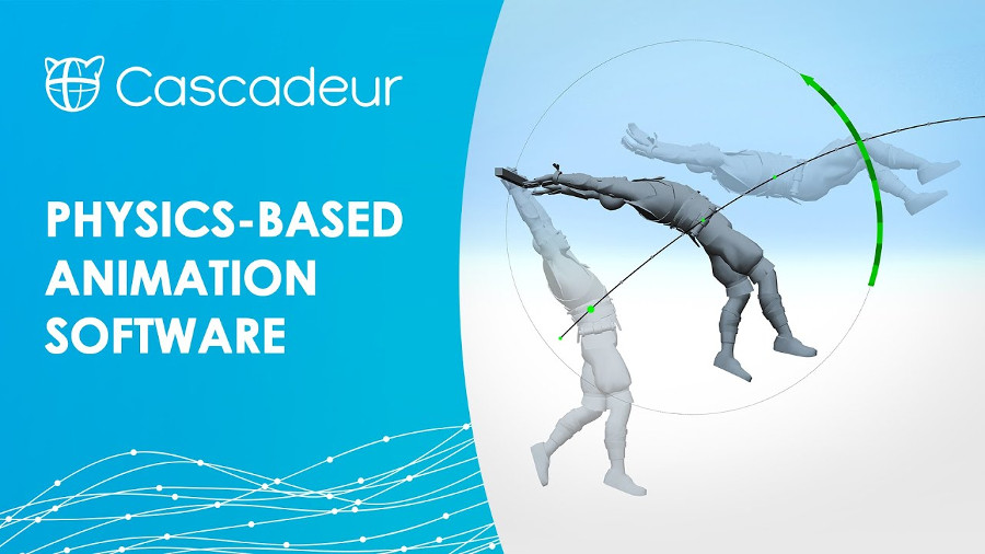 Cascadeur: Innovative software for physics-based character animation